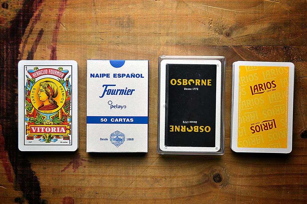 Naipe español opciones de estuche barajas 50 cartas