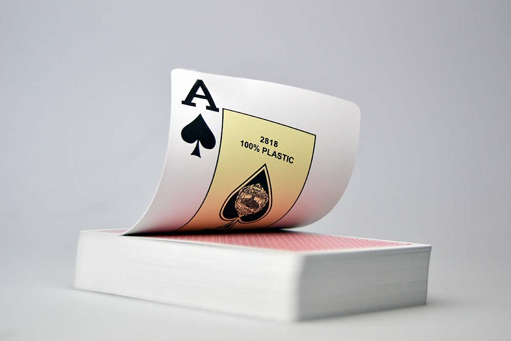 Poker plastic card deck detail