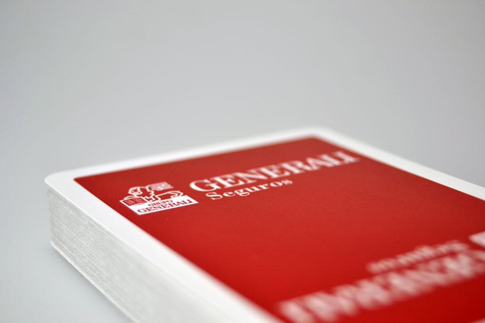 Poker plastic card deck detail, Generali seguros