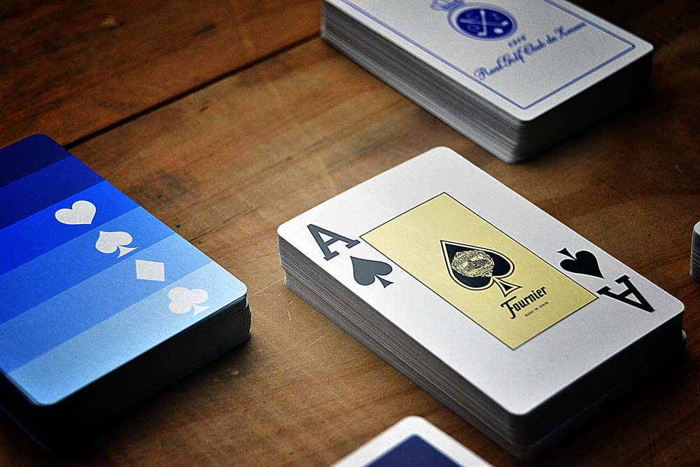 Promotional poker decks with jumbo ace, detail