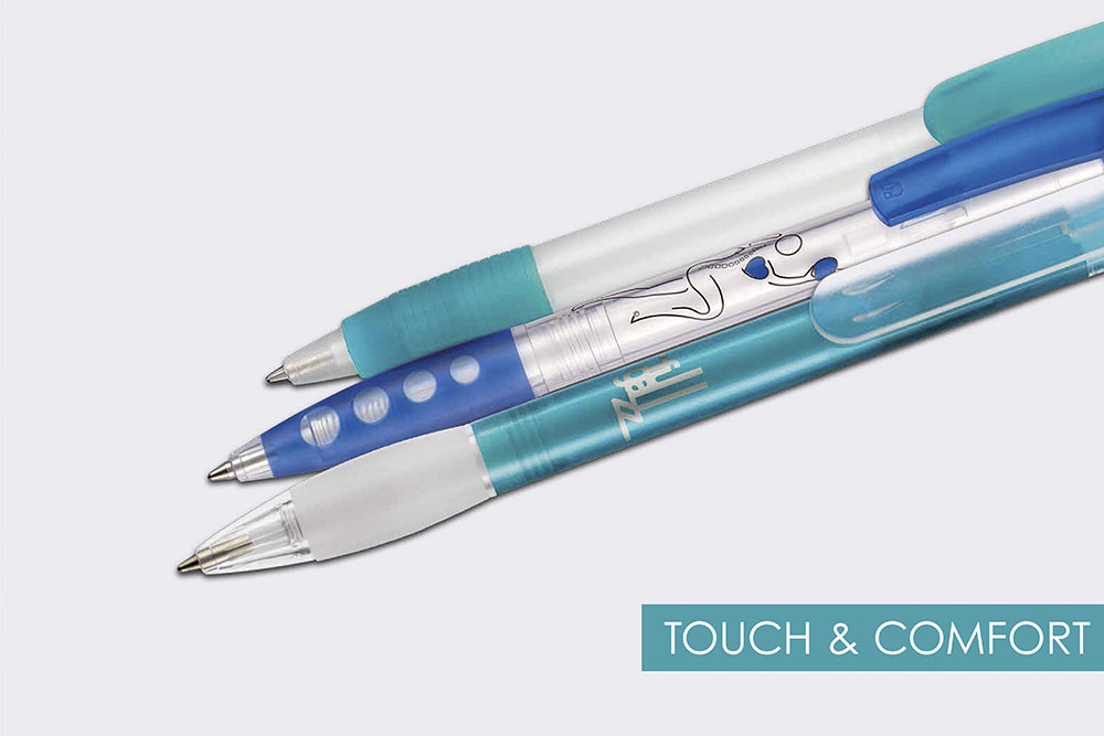 Personalized Ritter ballpoint pens as promotional gifts